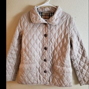 Burberry Quilted Tan Puffer Down Jacket Coat